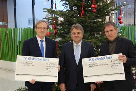 gladbacher bank rheydt spende statt geschenke gladbacher bank ag