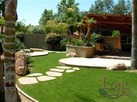 backyard landscaping phoenix this backyard is an oasis with grass flagstone stepstones