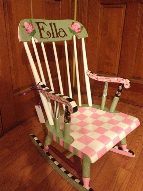 painted chair ideas buy made painted childs rocking chair custom colors