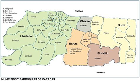 imagenes mapa venezuela mapa de caracas