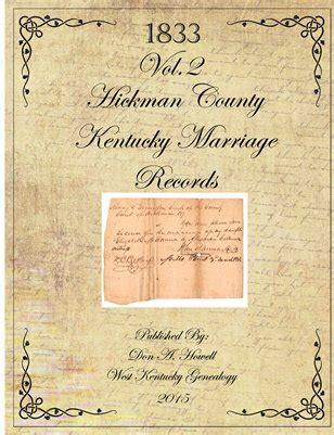 Baldwin County Marriage Records Collection Hickman County Kentucky Books Photos Magcloud