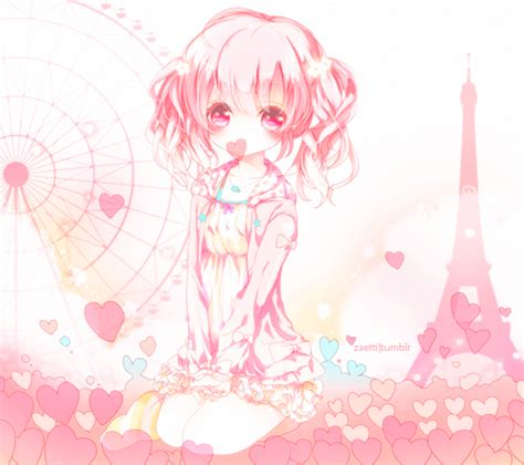 imagenes de anime kawaii tumblr anime pink heart tumblr