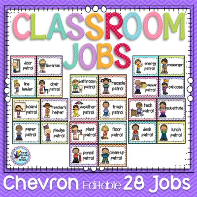 printable job cards for classroom jobs list for classroom images
