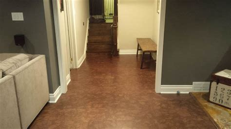 Cork Flooring In Basement Best Basement Flooring Ideas And Options