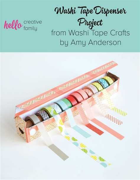 washi crafts easy diy washi dispenser project from washi