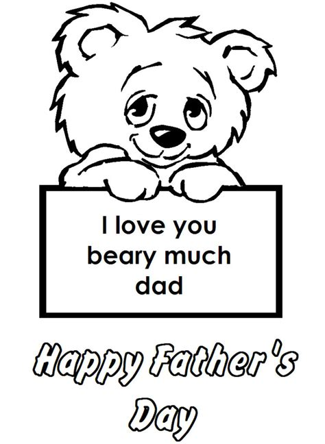 Galerry printable coloring page father s day
