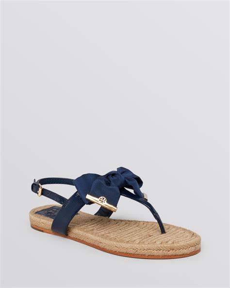 bow sandals burch flat sandals bow in blue lyst