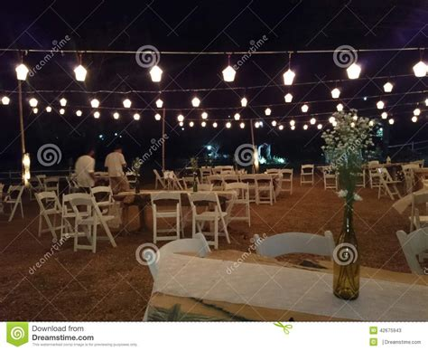 backyard party setup outdoor evening party stock photo image 42675943
