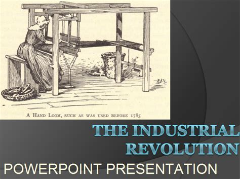 industrial revolution powerpoint template the industrial revolution powerpoint presentation with