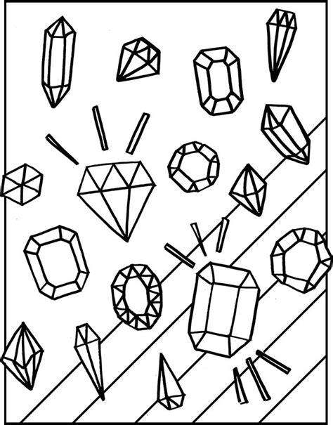 Free Gemstones Coloring Page Gemstone Free And