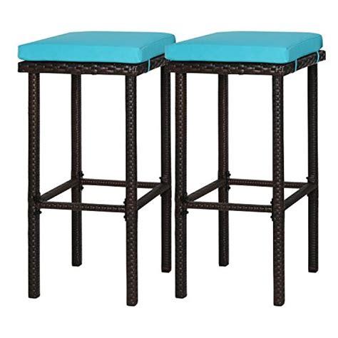 Bar Stool Height Patio Chairs by Kinbor 2 Pcs Wicker Rattan Bar Stool Counter Height Patio
