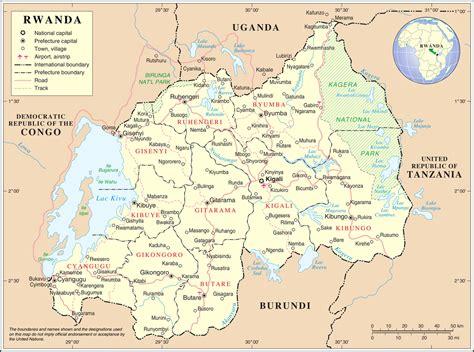 rwanda map geography of rwanda