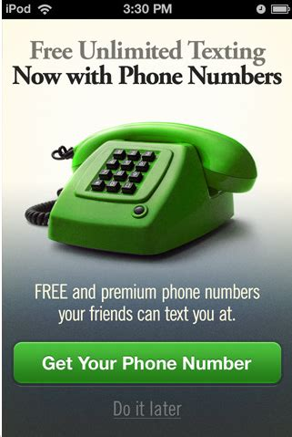 Ipod Phone Number Lookup Textplus 4 Offering Real Phone Numbers For Iphone Ipod Touch Users