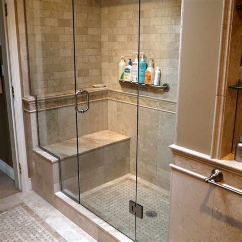 shower built in bench bathroom great corner walk in shower with built in bench