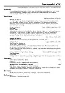 Resume Professional Summary by 2 Horticulture And Gardening Cv Examples In Manchester