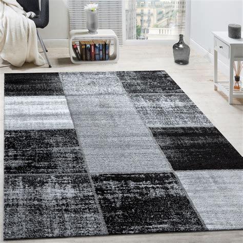 moderne teppich läufer designer teppich modern kurzflor karos speziell meliert