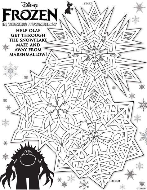 printable mazes disney free printable maze activity sheets to celebrate frozen