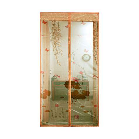 Tirai Penutup Pintu Ruangan Magnet jual lotusshops daun teratai tirai pintu magnet coklat muda harga kualitas