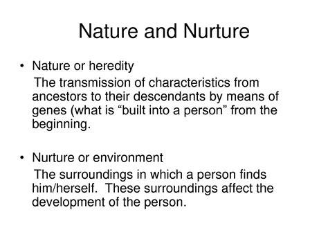 exle of nature vs nurture image gallery nature vs nurture exles