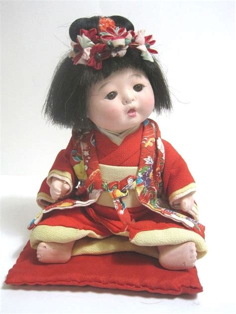 bisque doll made in japan vintage japanese doll bisque made in japan w kimono