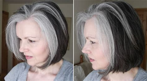 transitioning to gray hair with lowlights hairstyles for long salt and pepper hair