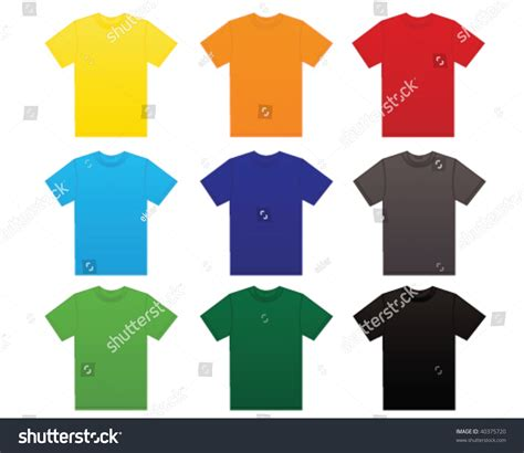different color shirt in t shirt in different colors stock vector illustration