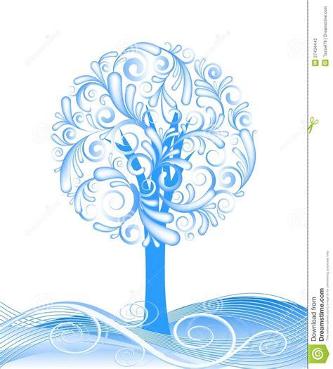 abstract vector winter tree design beautiful vector winter tree design stock photos image 27434443