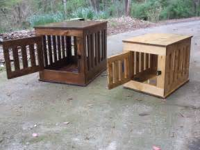crate end table wooden kennel indoor wood house