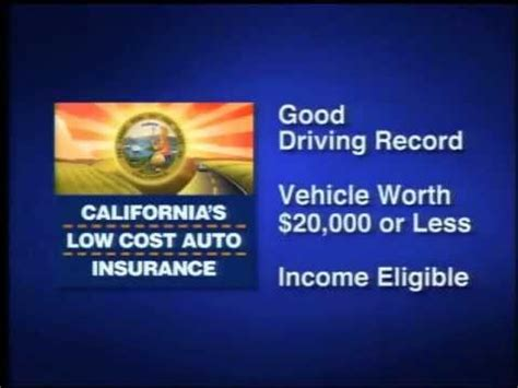 Low Cost Auto Insurance by California S Low Cost Automobile Insurance Program