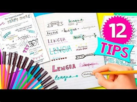 como decorar titulos para cuadernos c 211 mo hacer t 205 tulos bonitos para tus cuadernos decora tus