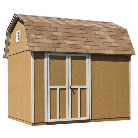 10 X 8 Wood Floor - handy home products briarwood 10 ft x 8 ft wood storage