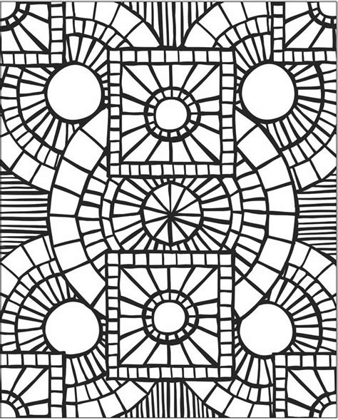 free coloring pages of roman mosaic