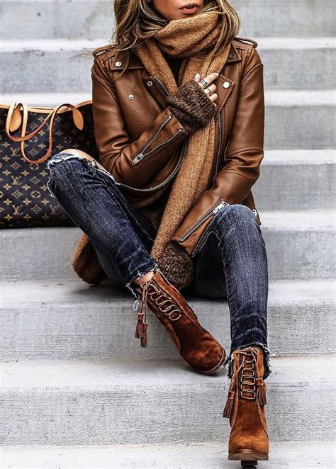 best 25 brown leather jackets ideas on womens