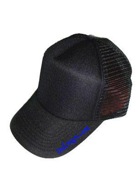 Topi Rimba Hitam Polos pusat grosir topi murah