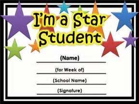 Academic Certificate Templates Free Star Awards Templates Certificates Star Student