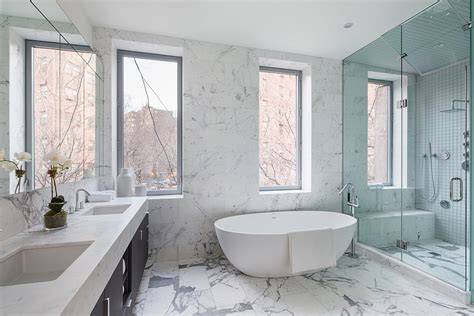 bathtubs nyc exquisite contemporary bathroom in marble with a