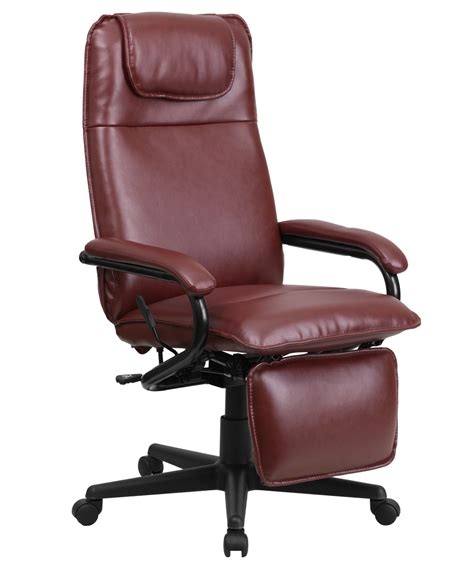 office reclining chair flash furniture high back burgundy leather executive