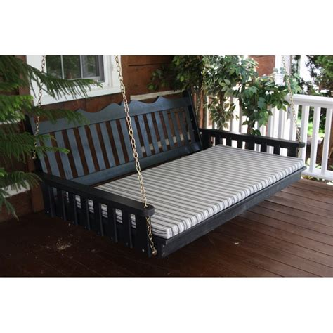 swinging porch beds pine 5 royal english swing bed a l