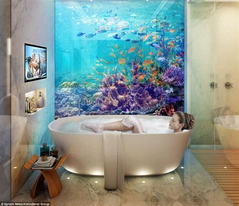 bedroom under water arabian gulf to be home to floating seahorse villas with