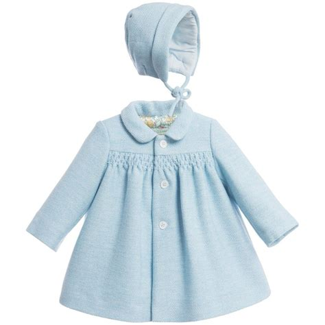Set Kid Blue Coat nanos baby blue padded coat bonnet set at