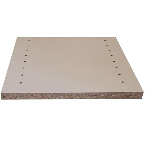 melamine white shelf drilled board common 3 4 in x 11 3