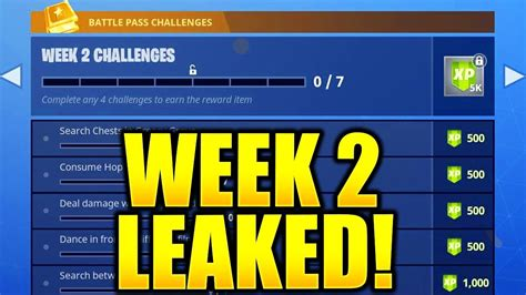 fortnite week 2 challenges fortnite season 5 week 2 challenges leaked week 2 all