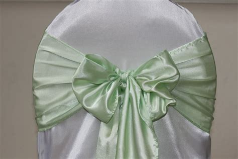 Mint Chair Sashes by Simply Weddings Chair Cover Rentals Wedding