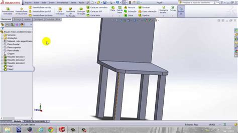 solidworks tutorial chair tutorial solidworks how to model a chair youtube