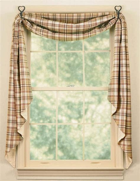 country swag curtains thyme fishtail curtain swags