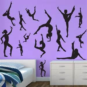 gymnastics wall stickers flip gymnastics wall graphics sticker genius