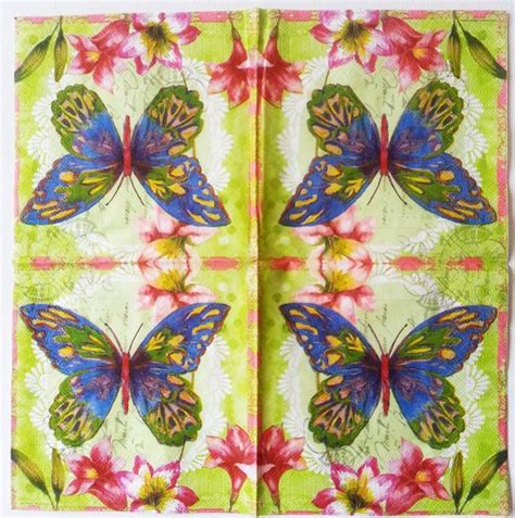 Butterfly Decoupage Paper - decoupage paper of aporia butterfly with flowers napkin