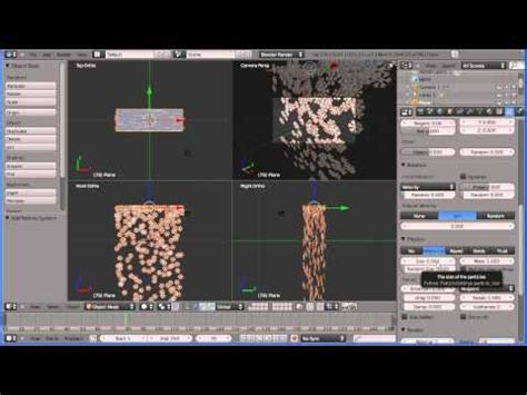 tutorial blender physics blender 2 tutorial creating snow using a particle system