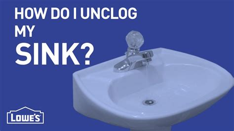 a quick way to unclog a sink youtube how do i unclog my sink diy basics youtube