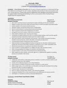 School Counselor Resume Exles by Lcjs School Guidance Counselor Sle Resume